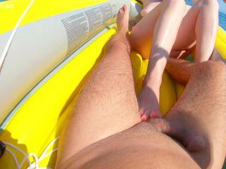 Ginger Footjob Cum on Boat — GingerAle23