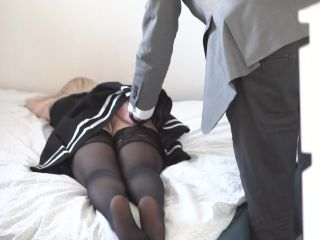 Spanking Red AssHandcuffed Schoolgirl Spanked with a Belt