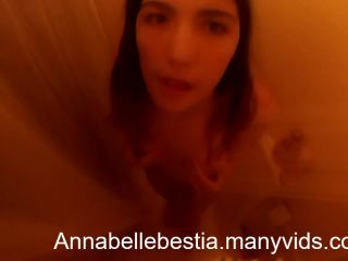 Annabelle Bestia - striping and showering