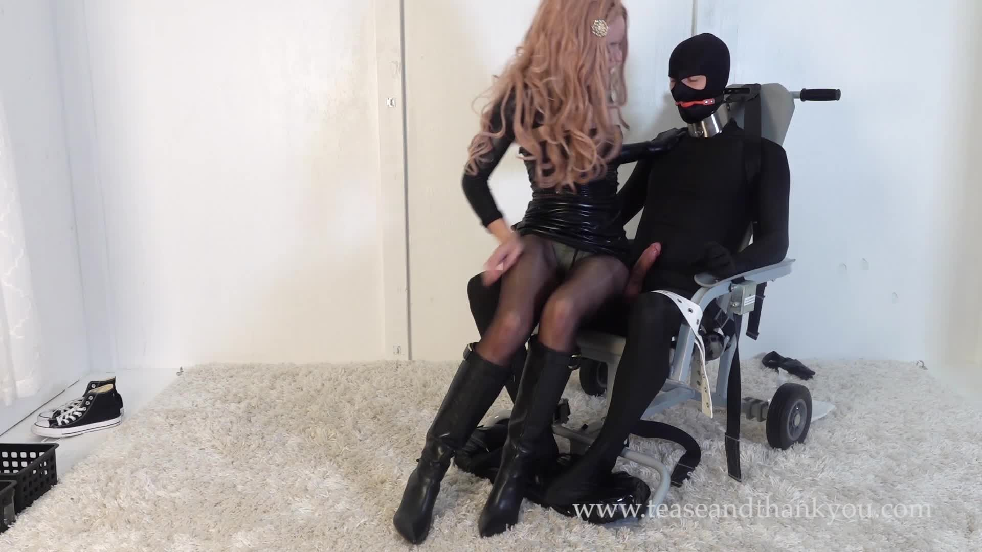 You thank tease and Forced Milking