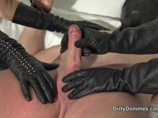 Duo leather gloved milking part 2