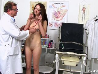 old and young - FreakyDoctor presents Atena in 18 years girls gyno exam