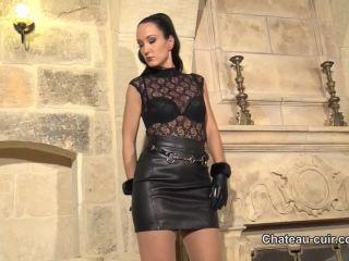 Handjob – Chateau-Cuir – Cum on My Jitrois skirt – Fetish Liza