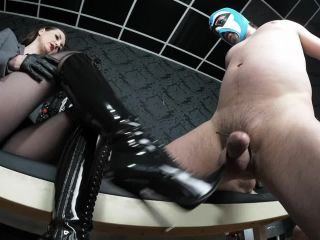 Porn online GERMAN FEMDOM Lady Victoria Valente – Boot Domination: Heavy CBT game and tail torture minutes femdom
