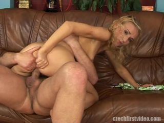 Blonde gets all the cum | Czech First Video 22