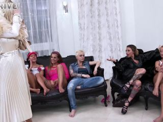 Take Her From Classy To Trashy With A Fist In Her Pussy and a Dildo Up Her Ass! Gang-Lesboed and Loving It! – Sin Drive