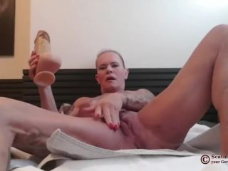 Scatmuschi BINE - I Play with Scat from my giant Dildo [FullHD 1080P] - Screenshot 1