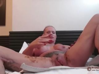 Scatmuschi BINE - I Play with Scat from my giant Dildo [FullHD 1080P] - Screenshot 3