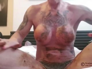 Scatmuschi BINE - I Play with Scat from my giant Dildo [FullHD 1080P] - Screenshot 6