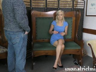 Miss Blue deals with pervy friend only way she knows how