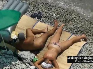 Norwegian nude beach handjob - norsk