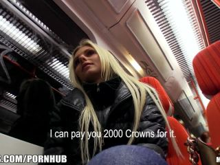 ous blonde czech girl is picked up and paid for public sex
