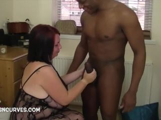 Very Busty Meow takes a thick BBC