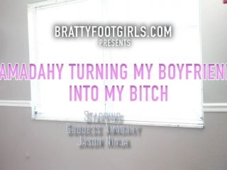 Bratty Foot Girls – Amadahy – Turns her Boyfriend into her Bitch