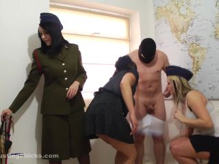 Femdom – Ball Busting Chicks – Female Interrogation Team