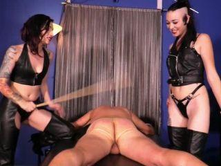 Leather – Cybill Troy FemDom Anti-Sex League – Caned Into Oblivion Starring Cybill Troy and Luzia Lowe