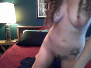 Self fisting and shows uterus through gaping vagina