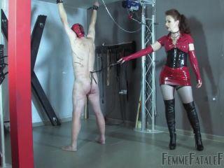 Femdom – FemmeFataleFilms – Red Whipping – Part 1 – Mistress Lady Renee