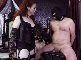 Submissive Slave Training – Mistress Lady Renee – Electro nipples and cock