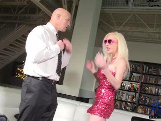 Busty Blonde Bimbo Twins Get Fucked Hard