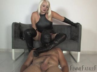 Boots – Femme Fatale Films – Leather Boot Wanker – Divine Mistress Heather