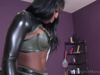 theenglishmansion  mistress kiana  punished by mistress kiana complete  cock and ball crush