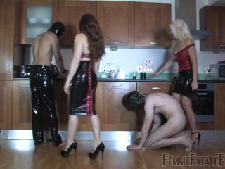 Ass Worship – FemmeFataFefilms – Four Heel Fury – Mistress Heather and Lady Mia Harrington