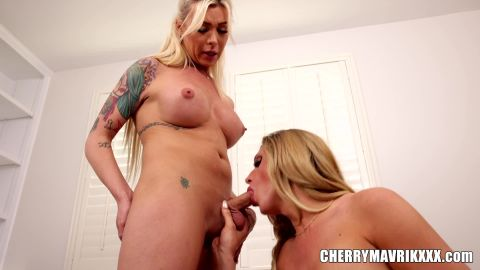 Cherry Mavrik, Aubrey Kate, Sheena Ryder - Stretching Out Aubrey, Blonde Trans Ladies Anal Fuck And Jizz (1080p)