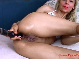 Russian girl fisting anal, dildo fuck and giant Prolapse loose