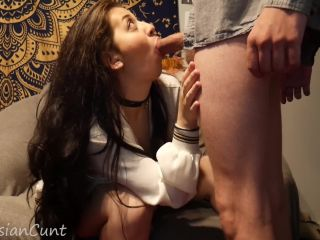 Blowjob followed by standing orgasms and a glorious cumshot