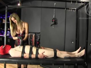 mistress nikki whiplash  wl1271 clamped crushed & whipped  handjob