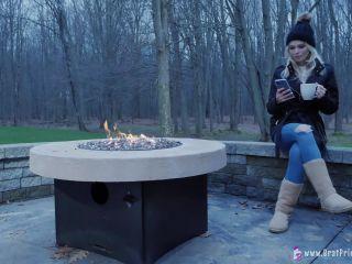 Amber - Hoses Down Slave In Freezing Weather [UltraHD/4K 2160P] - Screenshot 1