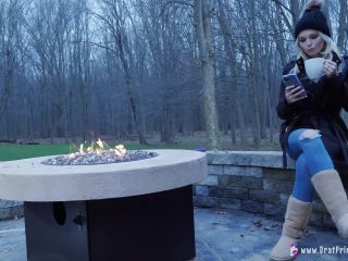 Amber - Hoses Down Slave In Freezing Weather [UltraHD/4K 2160P] - Screenshot 2