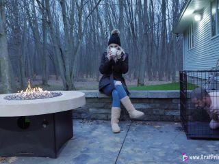 Amber - Hoses Down Slave In Freezing Weather [UltraHD/4K 2160P] - Screenshot 3