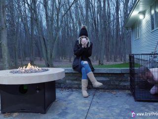 Amber - Hoses Down Slave In Freezing Weather [UltraHD/4K 2160P] - Screenshot 4