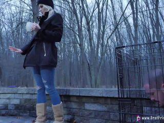 Amber - Hoses Down Slave In Freezing Weather [UltraHD/4K 2160P] - Screenshot 6