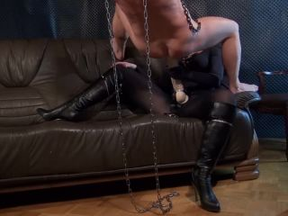kinkymistresses  lady luciana  ride the huge strap on  strapon in mouth