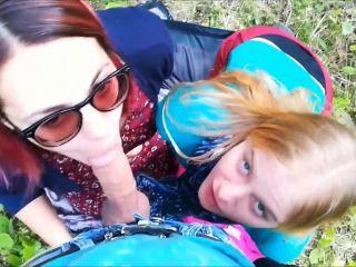 Alexandra Codefuck Public Threesome at the City Park Stranger joined ...