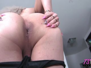 Paris Queen in big booty blonde TS loves your cock
