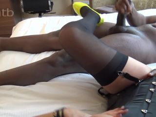 High heels on feet big dick and sperm in pussy!