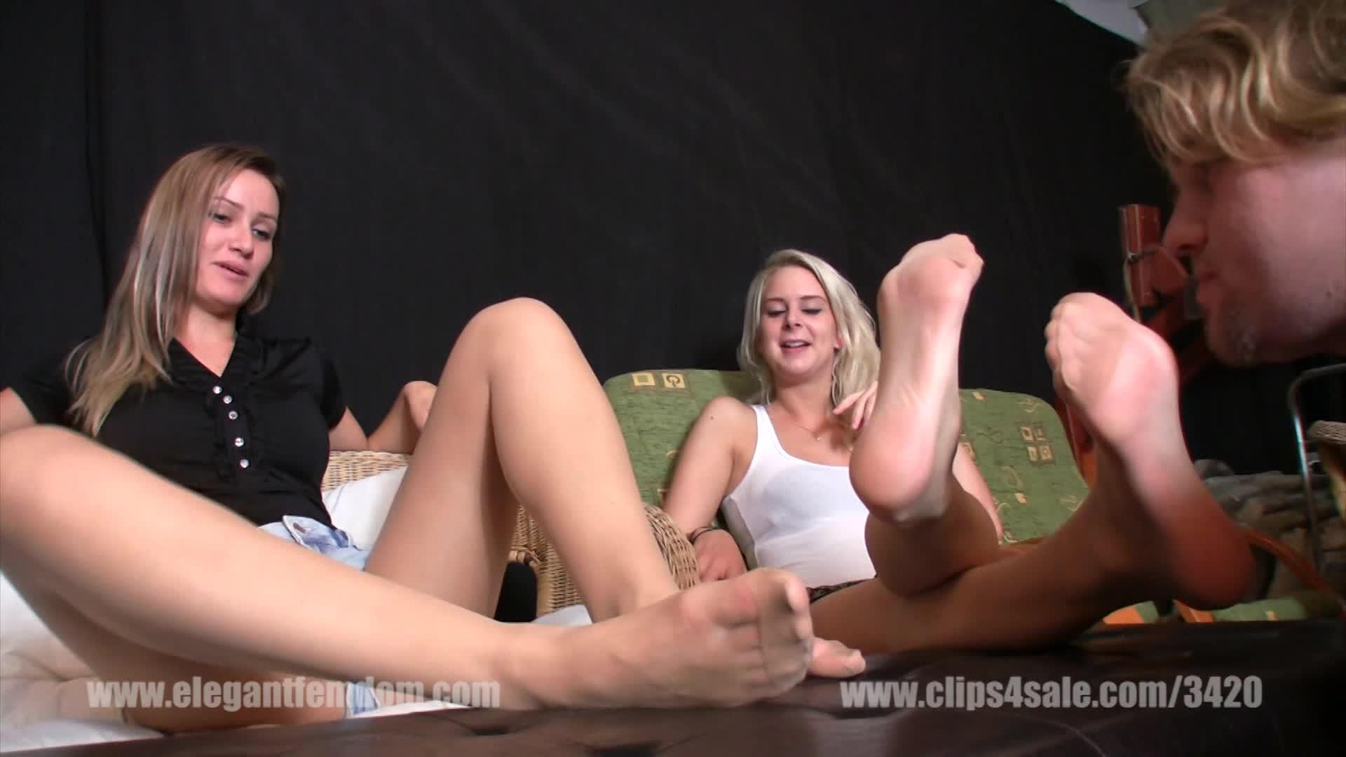 Nylon Feet Tickled Stocks