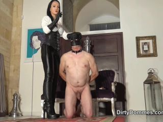 Leather – Dirty Dommes – COCK CIGARETTE TORTURE – Fetish Liza