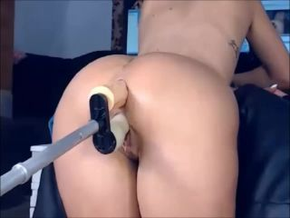 Double dildo action! sandyxsin and keitty live!