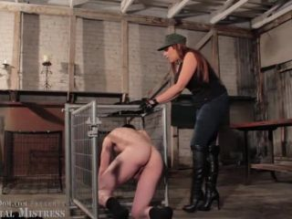 Fascist FemDom  First Day in the Nation: Full Metal Mistress DVD scene 1. Starring Elena De Luca [FORCED STRIPPING, SPITTING, BOOT DOMINATION]
