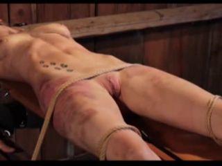 Brutal BDSM Pig – Stapled Cunthole (100815)