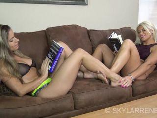 Soles fetish – Skylar Rene, Sydney Thunder – Foot Play, butt fetish on feet