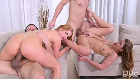 Alexis Crystal, Katarina Rina - Swingers' Dream Comes True (720p)