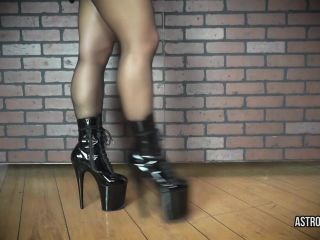 ManyVids presents AstroDomina in LOWLY ASS WORM — STRAPON LATEX BOOTS JOI $13.99