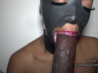 DSLAF — Dick Sucking Lips And Facials presents Dominican Lipz Vs Swoon-Battle For The Throne-Latex Mask-2 Cumshots —