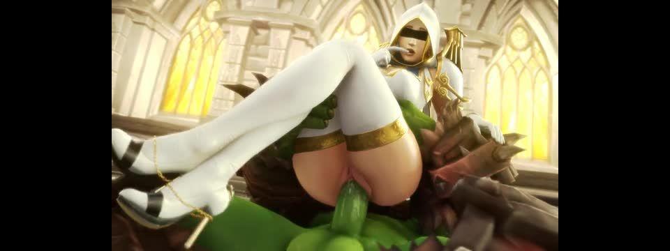 Luna Riding an Orc dick - Noname55